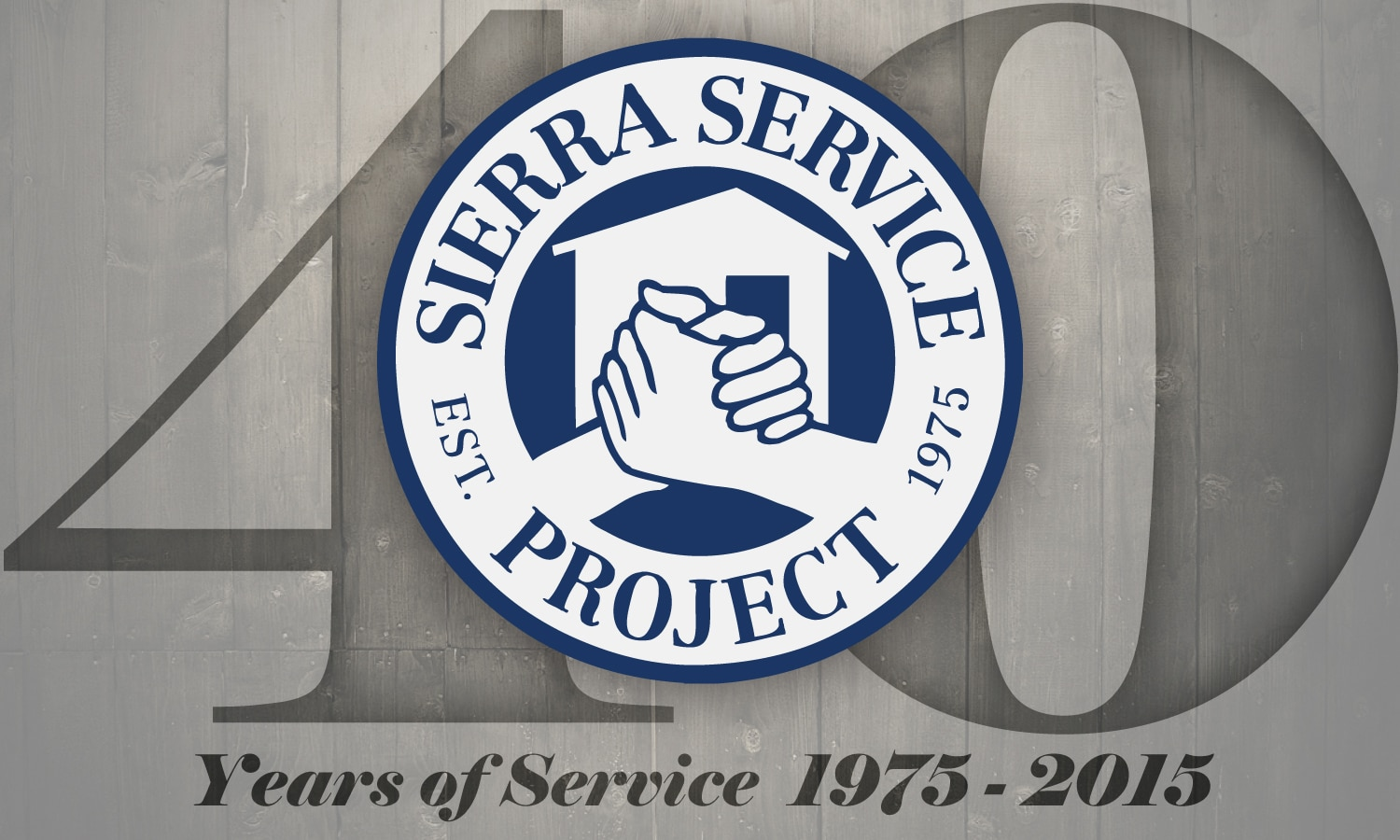 40th anniversary sticker sierra service project