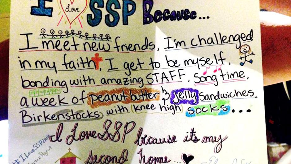 Why I Love SSP