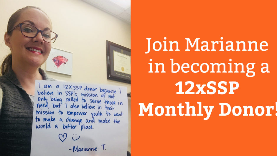 Marianne Tomlin: Why I'm a 12xSSP Monthly Donor